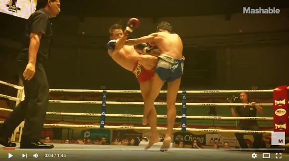 ムエタイの試合をスローモーション撮影した動画がスゴい!! 筋肉の細かい動きまで見える!