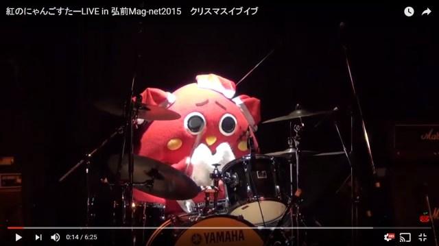 【動画】青森県のゆるキャラ「にゃんごすたー」がX JAPANの『紅』をドラムで演奏! あまりの凄さに笑うしかない人が続出!!