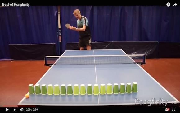 【神ってる卓球】海外発のトリックショット動画がまるで手品のよう