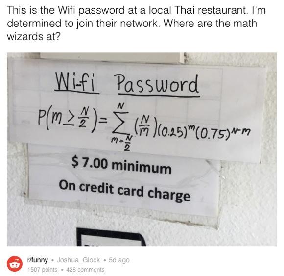 解けたら天才? 店の「Wi-Fi パスワード」を入手するための数式が激ムズと頭を抱える人続出