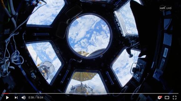 【全画面推奨】NASAによる国際宇宙ステーション内部の4K&魚眼レンズ撮影動画が素晴らしすぎる! 「自分も浮いてるみたい」と感動のため息必至