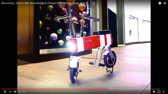 【欲しい】シンガポール発「1時間の充電で60km走れる超小型電動バイク」が日本先行発売へ