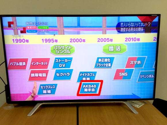 【波紋】若者の恋愛離れは『AKB48握手会が原因』とNHKが放送 / ネットの声「的外れすぎる」「なぜAKBだけ?」