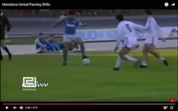 【伝説サッカー動画】なぜマラドーナは「神の子」と言われているのか一発でわかる変態パス集