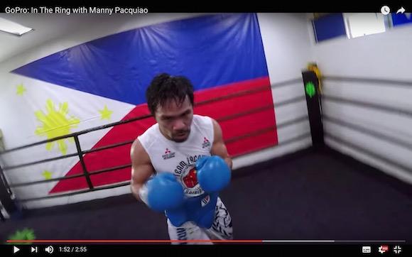 【見えないパンチ】6階級制覇王者・パッキャオのミット打ちを体験できる動画