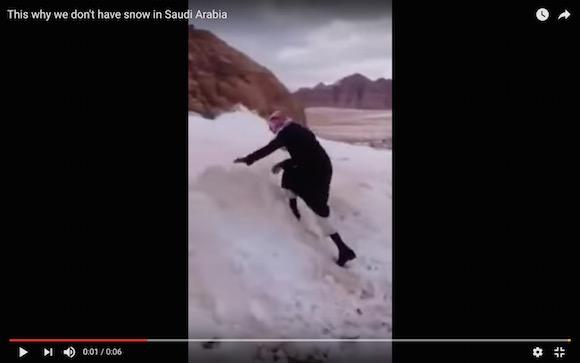 【衝撃動画】雪に慣れていないサウジアラビア人の雪遊びが斬新すぎる