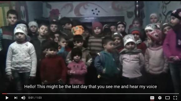 「私たちも平和に生きたい」シリア・アレッポの孤児たちが世界に向けてメッセージ動画を投稿