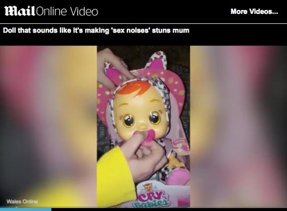 """【動画あり】赤ちゃん人形の泣き声がどう聞いても """"アノ声"""" らしい"""