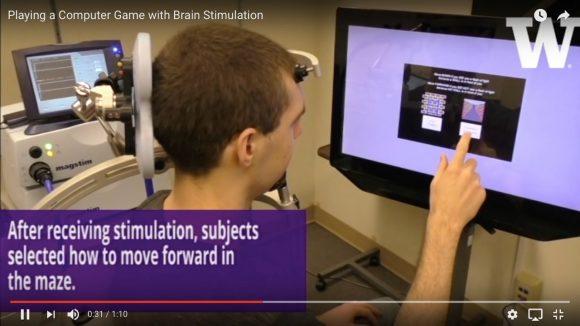 【動画あり】マトリックスかよ! 米国の研究チームが「脳への磁気刺激だけでゲームをプレイ」させることに成功!!