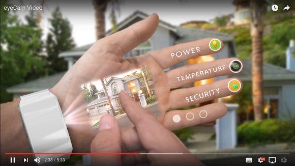 【動画あり】手をタッチスクリーン代わりにするスマホ「eyeHand」が未来すぎてヤバい!