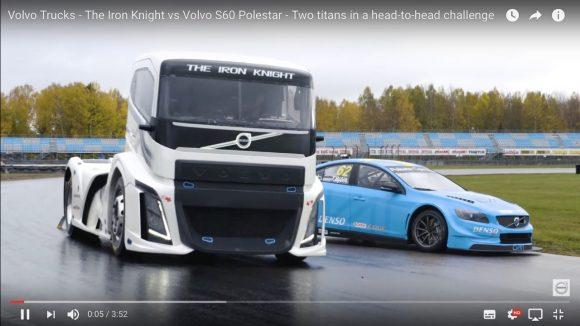 【動画】「世界最速のトラック」とレーシングカーが対決! 果たして勝つのはどっちだ!?