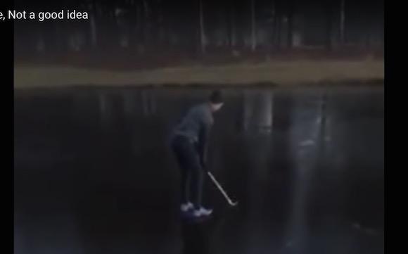 【衝撃ゴルフ動画】かつてないほどダサい「池ポチャ」が激撮される
