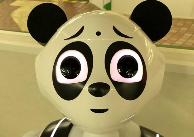 【動画あり】上野駅に登場した「パンダPepper」の目が腐りすぎィィィイイイ! お前は『特攻の拓』の武丸か