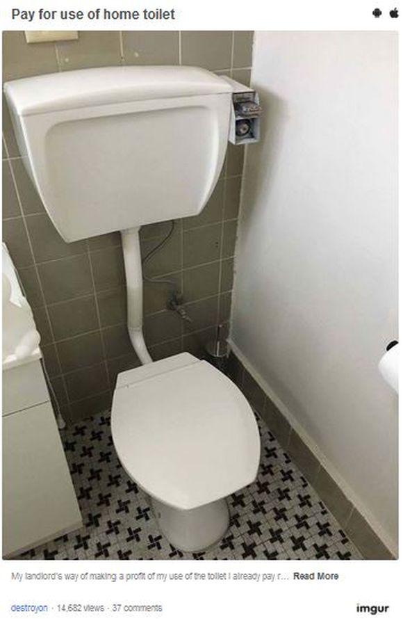 【マジか】 大家に「小銭を入れなきゃトイレが流れない装置」を取り付けられたアパートがヤバい!