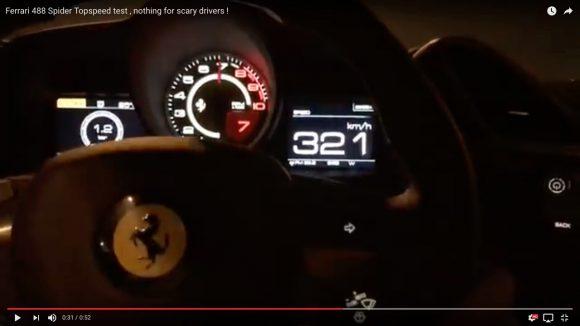 【衝撃動画】フェラーリ史上最速のオープンカー「488スパイダー」が本気を出したらこうなった!