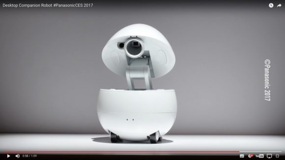 """【動画あり】パナソニックが作った """"卵型ロボット"""" がまるでR2-D2! おしゃべり機能とプロジェクター装備"""