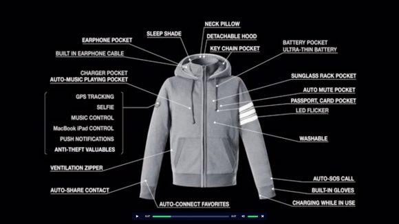 【スマホと連動】29もの機能を搭載した「スマートジャケット」が海外で大人気! 出資金額が目標の17500%を達成!!