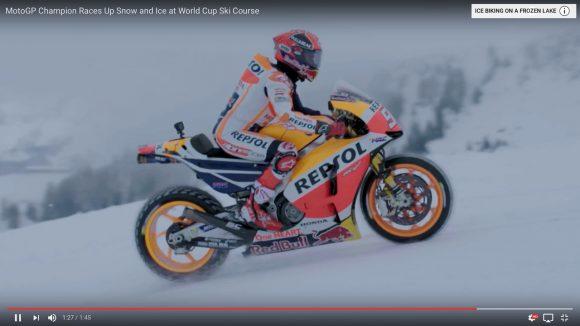 """バイクレース最年少世界王者 """"マルク・マルケス"""" の「雪山を爆走する動画」が超カッコイイ!"""