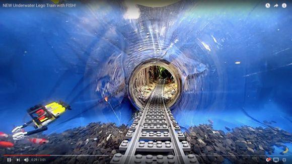 【動画】 LEGOトレインから見た「水中トンネルを走るシーン」がおとぎの世界レベルに幻想的