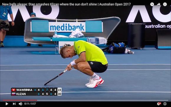 【悲劇】全豪オープンテニスで剛速球が股間を直撃するチンプレーが発生