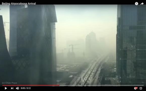 【恐怖映像】たった20分で地獄絵図! 北京の大気汚染が震えるくらいヤバい