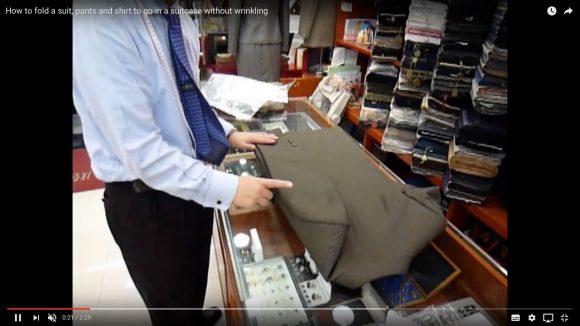 【動画あり】プロ直伝! スーツやシャツを美しくコンパクトに畳む方法がこれだ!!