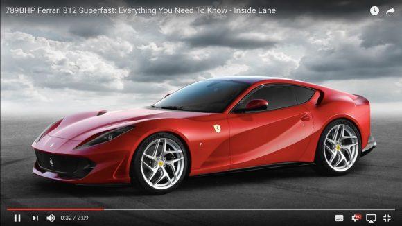 フェラーリ史上最強! 800馬力の新型マシン「812 スーパーファスト」登場!!