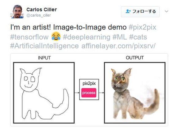 """スケッチを写真に変換できるプログラムが登場! ネット民が """"ネコの落書き"""" で試したら「続々と恐ろしいニャンコ」が誕生して話題に"""