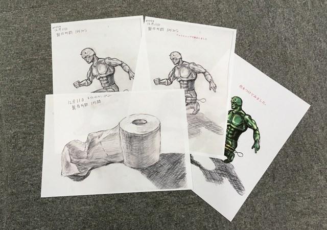 大御所CG漫画家のアシスタント応募のために描いたデッサンが下手すぎたのでフォトショ修正してから応募したらこうなった