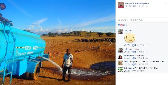 アフリカで野生動物のために毎日2時間かけて1万リットル以上もの水を届ける男性に感動!「私が助けないと動物が死んでしまう」