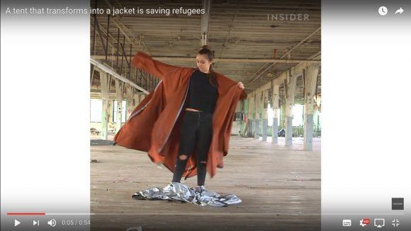 難民用に開発された「テントに変形するジャケット」が驚きの完成度