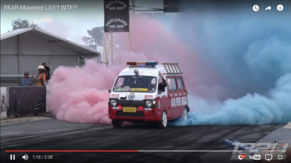 【動画】V8エンジン搭載の軽バンがヤバイ / スバル・サンバーバンにシボレーのV8エンジン