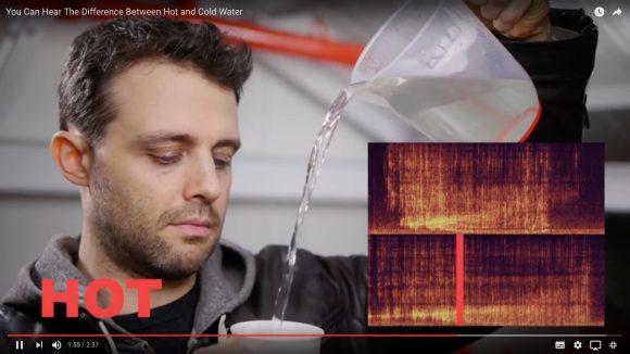 """【知らなかった】実はこんなに違う!「水」と「お湯」を注ぐ時の """"音の差"""" がわかる動画"""