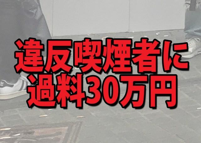 違反喫煙者に『過料30万円』を科す案に賛否の声!「厳しすぎる」「素晴らしい!」など議論白熱