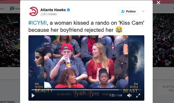 【動画】スポーツ観戦中に「キスして」とスクリーンに映されたカップルがガチ喧嘩! 彼女のまさかの行動に彼氏ブチキレ!!