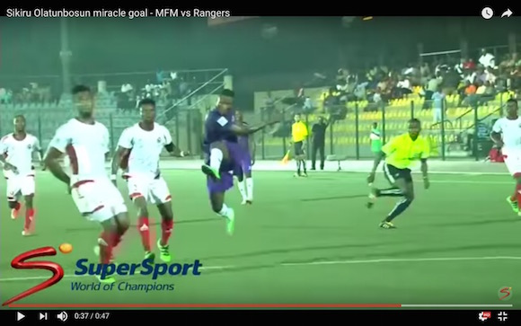 【衝撃サッカー動画】早くも年間ベストゴールで決まり!? 漫画のようなビューティフルゴールがナイジェリアで炸裂!!