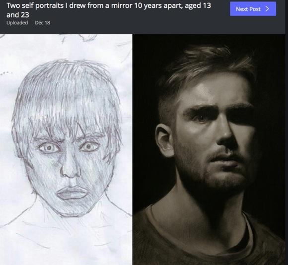 【継続は力】絵の練習を10年間し続けた人の上達っぷりがヤバい! 大切なのは「毎日描き続けること」「練習を愛すること」と話す