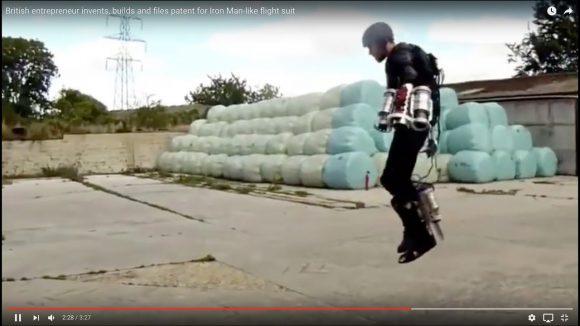 自作の「空飛ぶスーツ」で空中浮遊に成功した猛者が現る / まるでアイアンマン!!