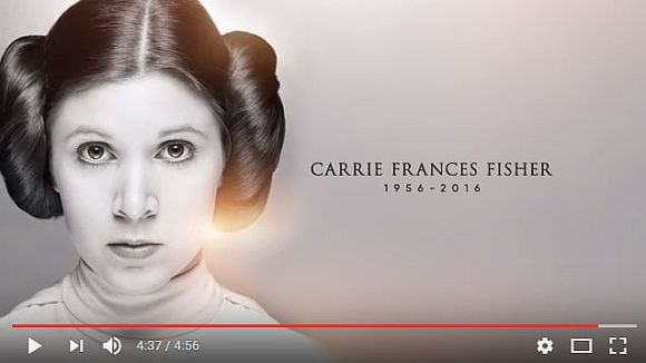 『スター・ウォーズ』公式YouTubeチャンネルが「キャリー・フィッシャーのトリビュート動画」を公開! ハリソン・フォードら関係者のメッセージも!!