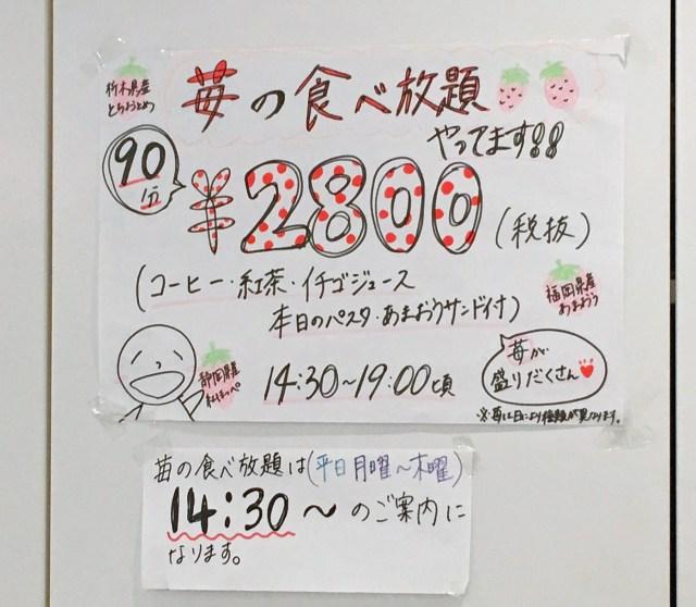 【女子必見】果実園リーベルで「90分2800円のイチゴ食べ放題」をやってるぞ~! 粒よりイチゴとあまおうサンドを食べまくれ~ッ!!