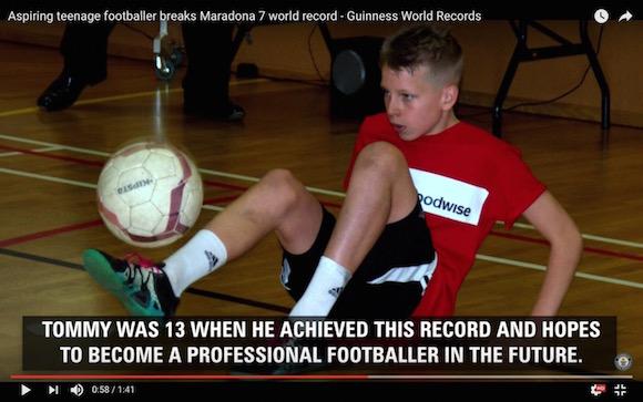 【衝撃動画】13歳サッカー少年の妙技「マラドーナ7」がスゴすぎ! 圧巻のリフティング技術でギネス世界記録を樹立