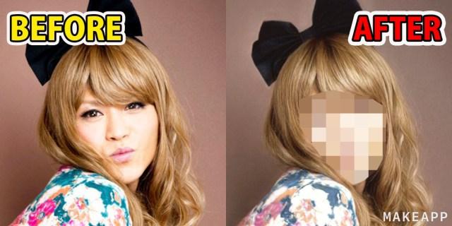 【衝撃】メイクを落とせるアプリ「MAKEAPP」で女装好きのオッサンの素顔暴いたらやべぇええええッ! ってなった