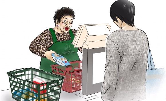 【コラム】スーパーのレジで並んでる時、自分のカゴを前にずらさないヤツなんなの?