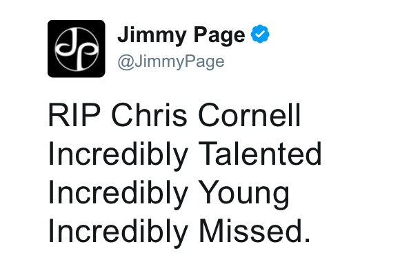 【訃報】世界的ロックシンガーのクリス・コーネル死去 / 享年52歳