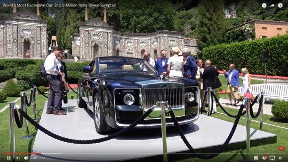 【動画あり】ロールスロイスが世界最高額の新型自動車を発表 / 1台なんと約14億円!