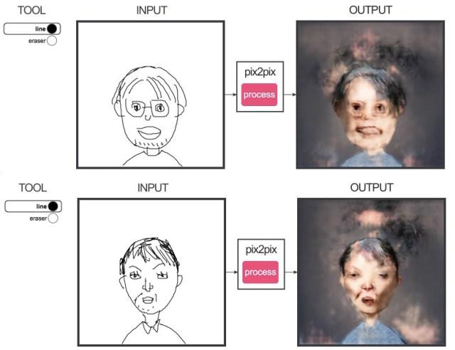 AIすごすぎ! プロの漫画家が「人を描くと人工知能でリアルにしてくれるサイト」を使ったらこうなった
