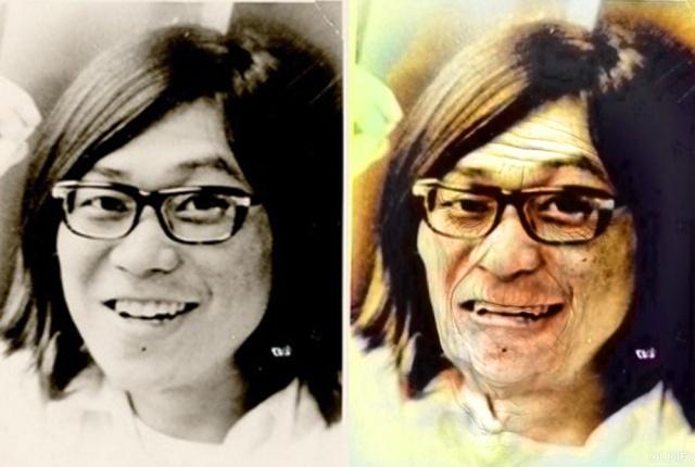 【動く】白黒写真の指名手配犯「桐島聡」をカラー化しつつ老けさせてみた