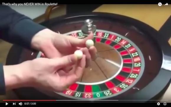 カジノのルーレットは「絶対に勝てない」ってことがよくわかるイカサマ動画