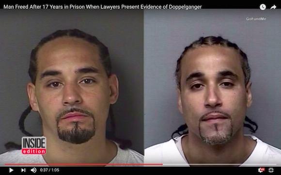 【激似】えん罪で17年間も投獄されていた男性が「ドッペルゲンガー」の出現で釈放される