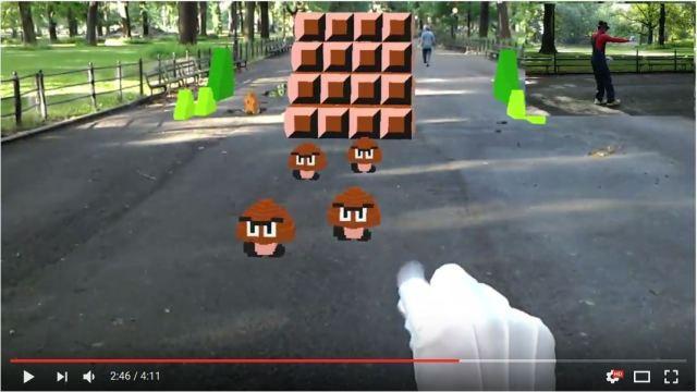 NYのセントラルパークでAR版『マリオ』をプレイする動画が胸アツすぎる!